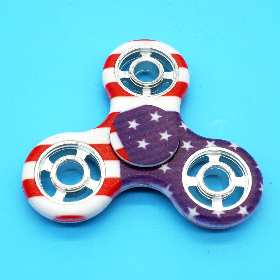 MBF Brand Triangle American Flag Multicolor Hollow Out Fidget Spinner