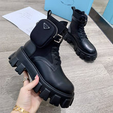 2020 primavera e outono botas de couro de moda botas de bolso de couro botas de cabeça redonda chelsea botas altas femininas