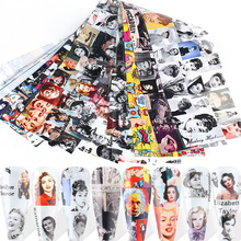 Decals Nail-Accessories Jackson Adehesive-Transfer Monroe Hepburn 10pcs Mike NL6210 Wraps