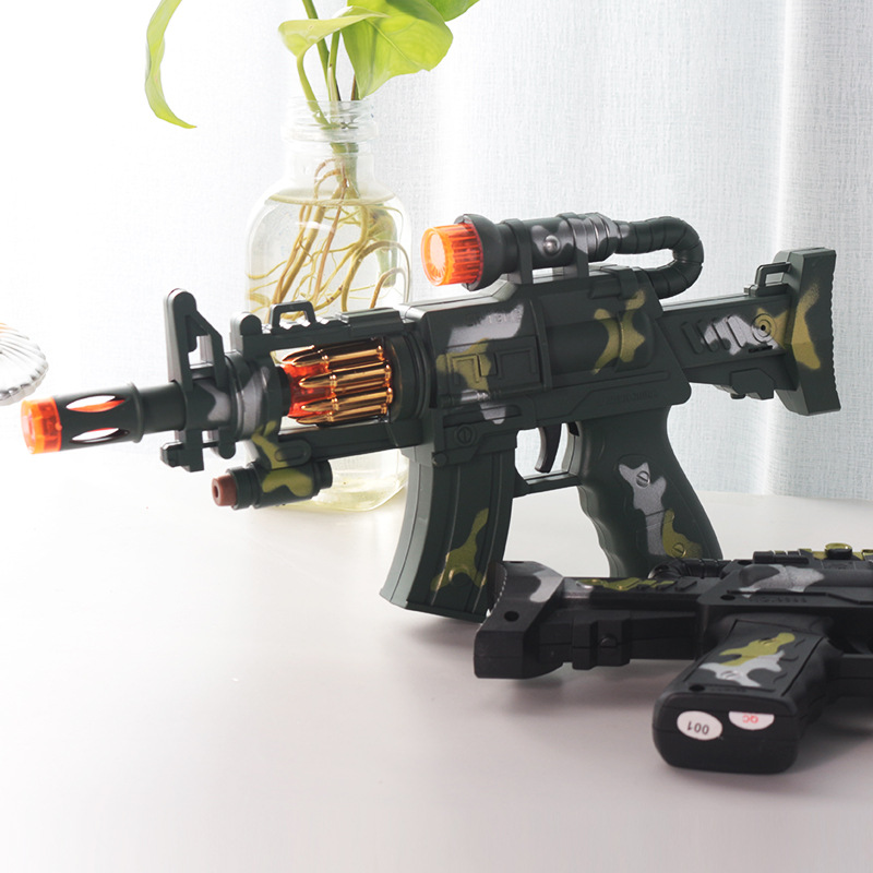 Sleeves Children Vibration Pronunciation LED Toy Gun Model Camouflage Color Army Model Toy Stall Supply Of Goods Hot Selling