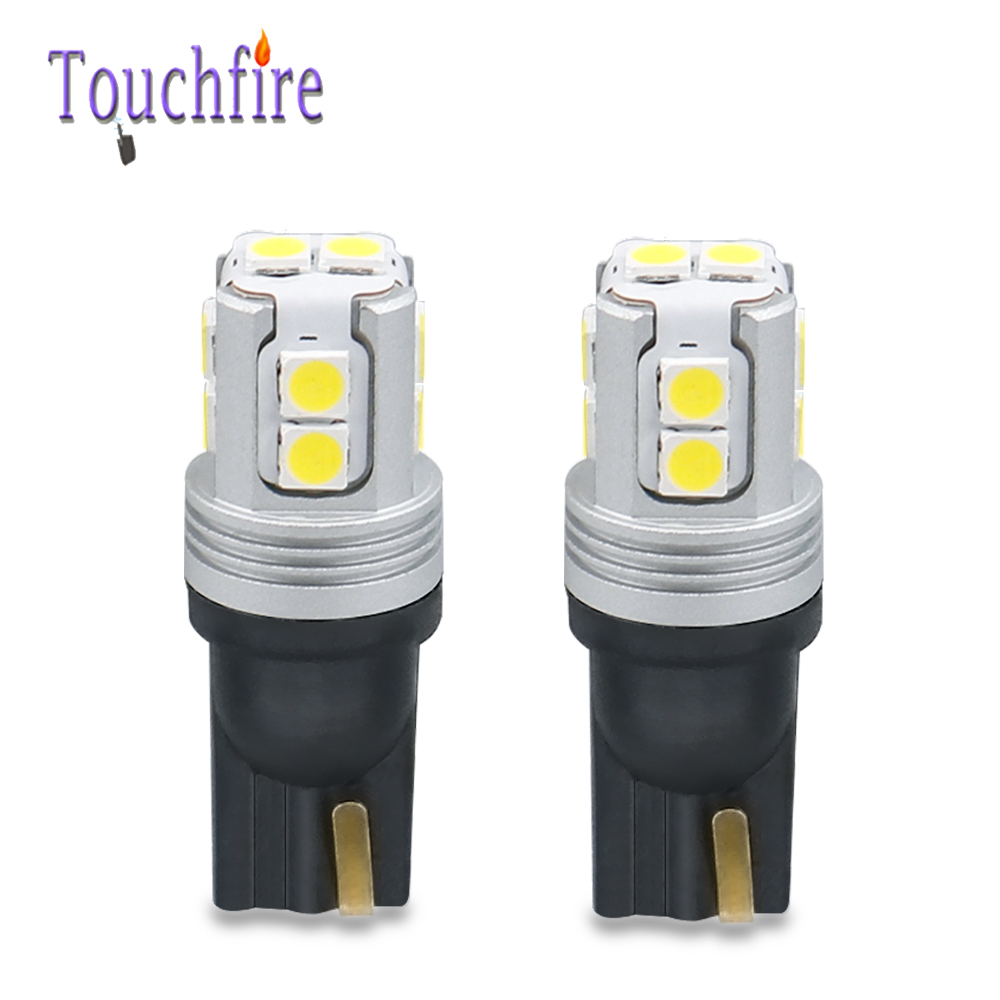 <font><b>100X</b></font> <font><b>T10</b></font> W5W 194 Canbus 3030 10SMD Car <font><b>LED</b></font> Bulb 600LM Interior Marker License Parking Reading Light 6000K Auto Lamp Wholesale image