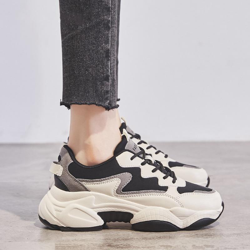 Retro Platform Sneakers Women Height