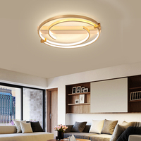 New hot sale modern led ceiling lights for bedroom study small living room kitchen lighting home simple golden ceiling lamp