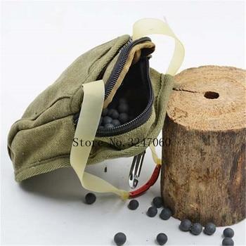 NEW 1pcs Slingshot fine Material canvas bags Balls Bag Case Pouch Holster Sling Shot Hunting Sports slingshot Accessories 4