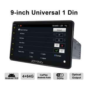 Image 4 - راديو بنظام تشغيل أندرويد 1 din مزود بشاشة مقاس 9 بوصات بنظام تشغيل أندرويد 10 نظام صوتي مركزي متعدد الوسائط مزود بنظام تحديد المواقع تلفاز رقمي لاسلكي 4G