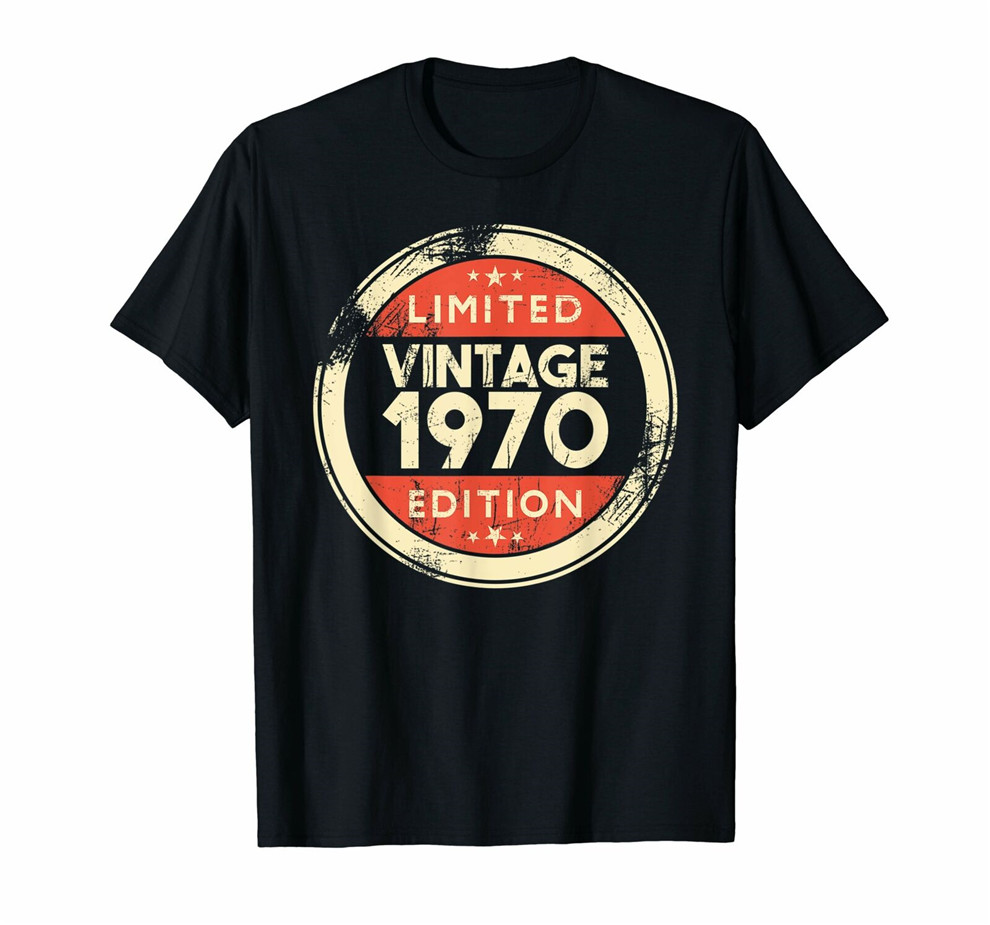 49 Years Old Gifts- 49Th Birthday Gift <font><b>Vintage</b></font> <font><b>1970</b></font> T-Shirt Tops New Unisex Funny Tee Shirt image