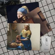 Maiya High Quality Vermeer Art DIY Design Pattern Game mousepad Top Selling Wholesale Gaming Pad mouse(China)