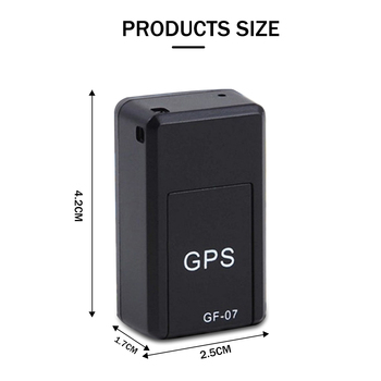 GF-07 Mini GPS Tracker Car GPS Locator Tracker Anti-Lost Recording Real Time Tracking Device Can Record Support TF Sim Card