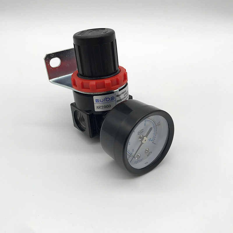 CHENTAOMAYAN AR2000 G1//4 Air Control Compressor Pressure Relief Regulator Valve with Fitting Color : AR2000 8mm Fitting