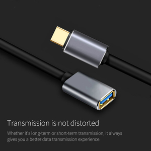 Image 3 - USB C OTG Data Cable Metal Type C Male to USB 3.0 Female Extension Converter For Samsung S10 For Xiaomi Mi8 Huawei Mate 20