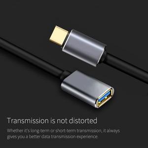 Image 3 - USB C Otg Datakabel Metalen Type C Male Naar Usb 3.0 Female Extension Converter Voor Samsung S10 Voor Xiaomi mi8 Huawei Mate 20