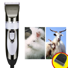 Electric Pet Hair Trimmer Low Noise Pet Hair Clipper Cutting Machine Hair Trimmers for Dogs Cats Rabbits Sheep US Plug electric sheep clipper shearing machine power goats livestock