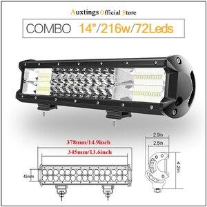 "Image 2 - Auxtings 5 ""14"" 17 ""20"" 23 3 שורת אור LED בר Offroad Led בר קומבו Beam Led עבודה בר אור למשאית SUV טרקטורונים 4x4 4WD 12v 24V"