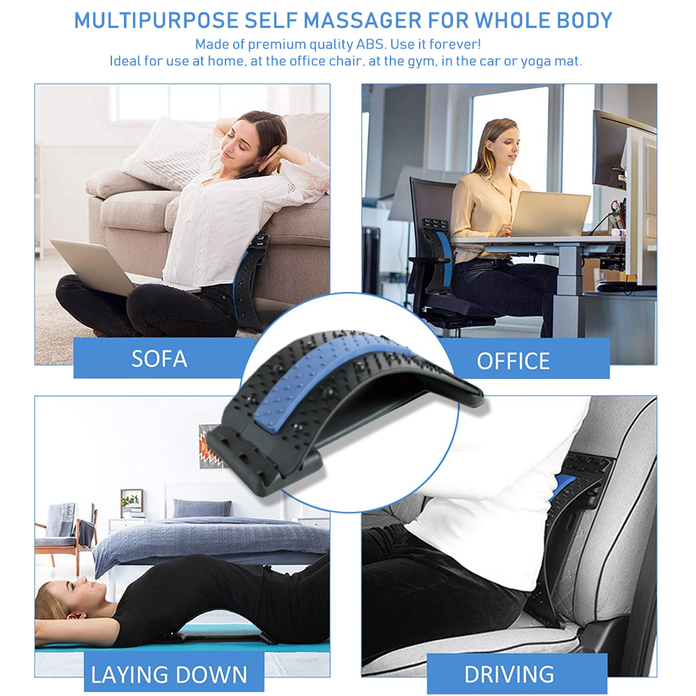 Magnetic Therapy Back Massager Stretcher Neck Stretch Tools Massage Cervical Pillow Lumbar Spine Support Corrector pain Relief