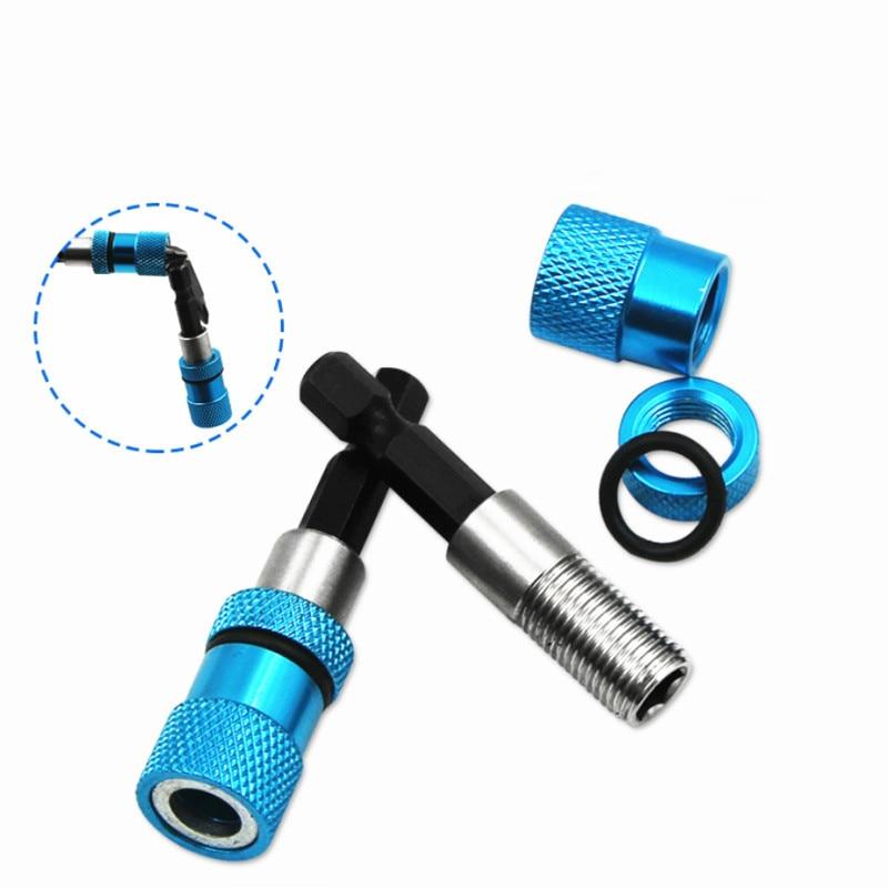 1/4 Hex Shank Electric Drill Bit Magnetic Screwdriver Bit Holder Stainless Steel Magnetism Limit Adjustable Extension Rod blue(China)