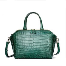gete Imported crocodile skin Female bag Handbag big capacity crocodile skin bag crocodile skin belly lady bag big women handbag gete new crocodile handbag fashion luxury european and american leather handbag bag socialite high capacity female bag