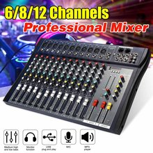 6/8/12 kanaals Audio Mixer USB Professionele bluetooth Studio DJ Mixing Console Karaoke Versterker Digitale KTV Geluid mixer audio(China)