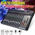 Mezclador de Audio de 6/8/12 canales USB profesional bluetooth estudio DJ consola mezcladora Karaoke amplificador Digital KTV sonido mezclador de audio