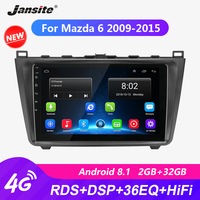 Jansite R9 9 RDS DSP Android Car Radio For Mazda 6 2009 2015 Touch screen player GPS Navigation HIFI autoradio video with frame