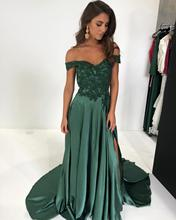 Elegant Dark Green Bridesmaid Dress Off Shoulder Guest Wedding Party  A Line Gowns robe demoiselle d honneur