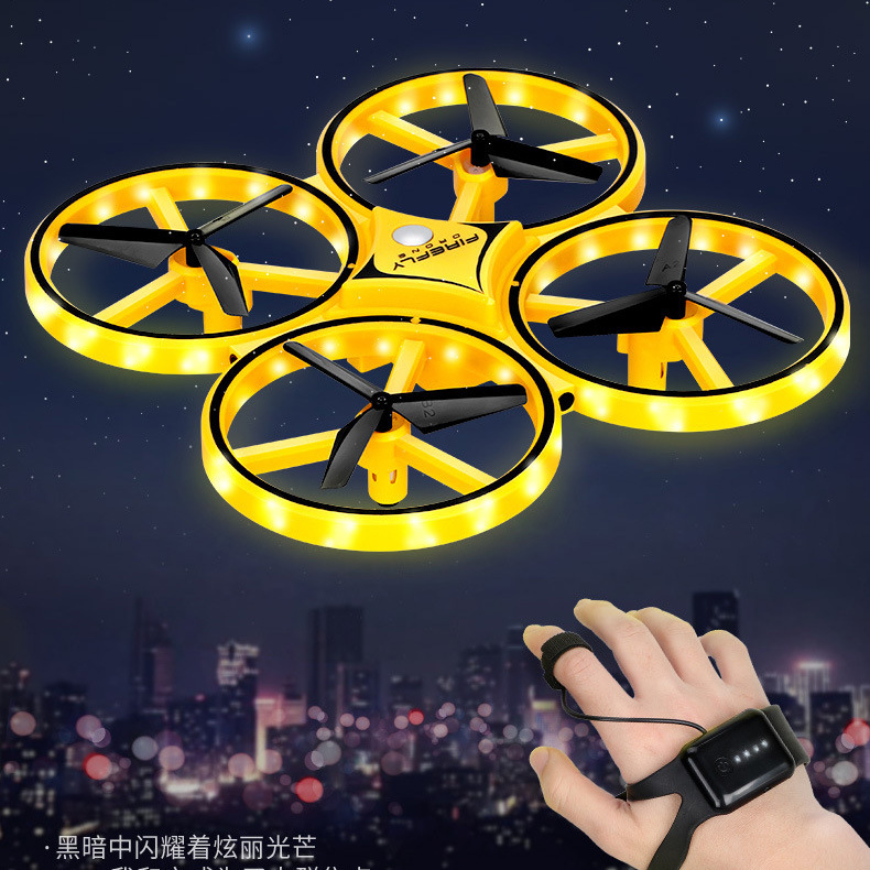 Douyin Hot Selling Smart Watch Unmanned Aerial Vehicle Gesture Induction Vehicle Remote Control Aircraft Suspension Boy Toy