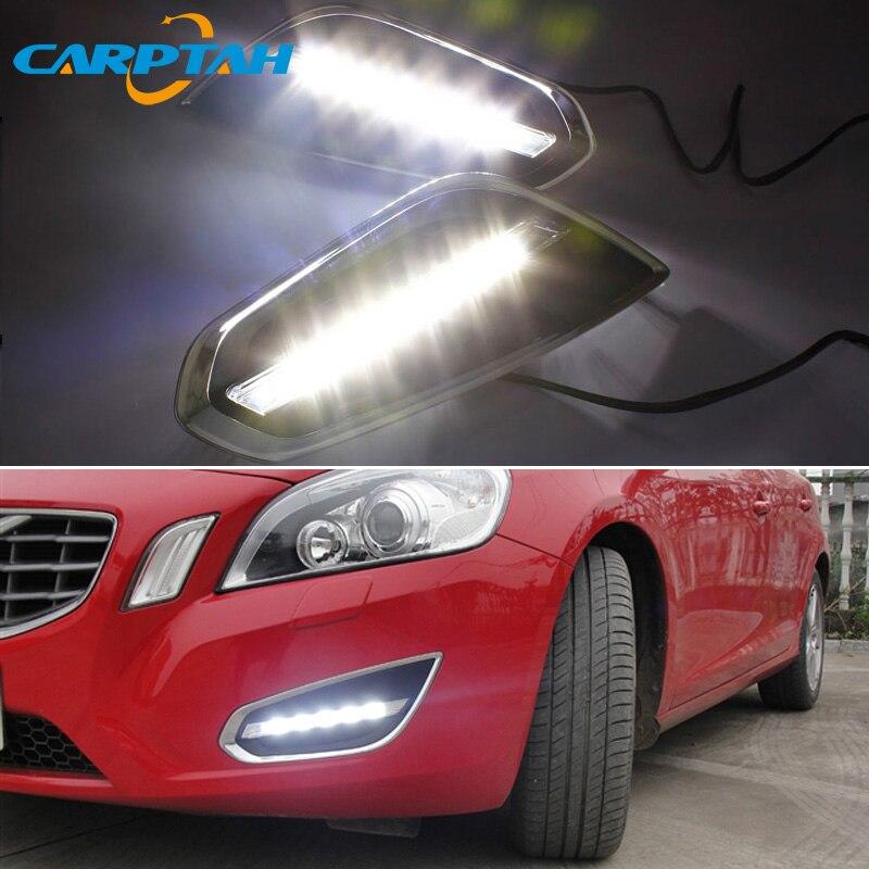 12V Auto LED Tagfahrlicht DRL Für Volvo S60 V60 2011 2012 2013 Auto Daylihgts Frontschürze Scheinwerfer