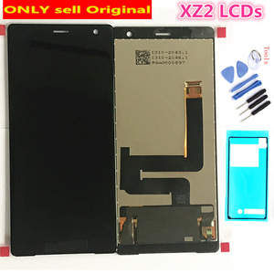 100% Original New Glass Sensor IPS LCD Display 10 Touch Panel Screen Digitizer Assembly For Sony Xperia XZ2 H8216 H8266 H8276