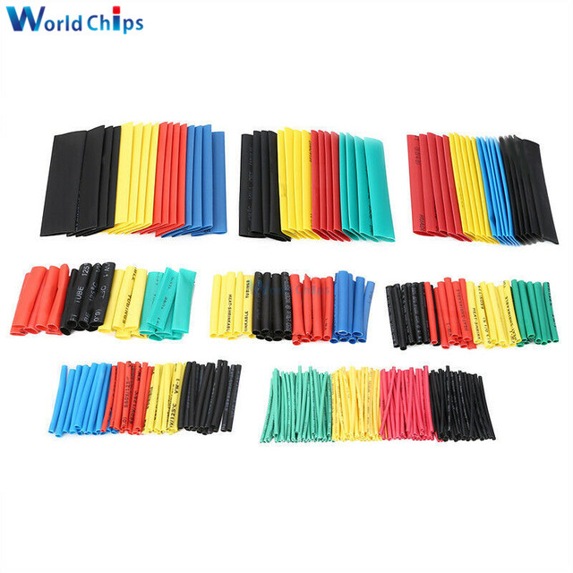 400pcs Polyolefin Heat Shrink Tube Mixed Color 8 sizes 1-14mm 2:1 Heat Shrink Tubing Wire Cable Sleeves Wrap Wire Assortment Set 1