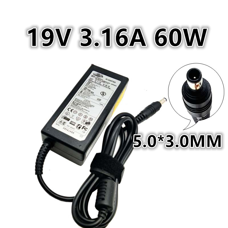 19V 3.16A 60W Universal Power Adapter Charger For <font><b>Samsung</b></font> P210 P459 P428 P461 P408 P560 P430 P530 P460 <font><b>P480</b></font> P510 P580 P410 P330 image