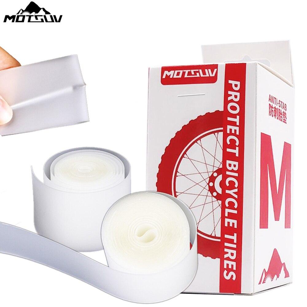 MOTSUV-almohadilla para neumáticos resistente a la Forro de llanta de bicicleta, almohadilla para ruedas de 700C, 20, 26