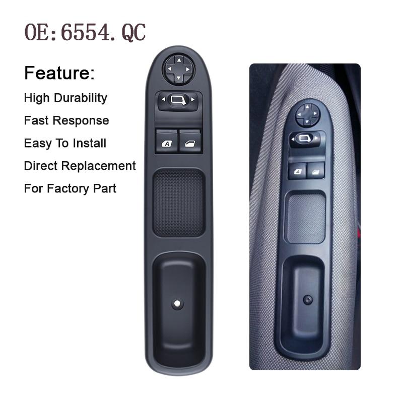 YAOPEI OEM 6554.QC 6554QC Anteriore sinistro lato azionamento Elettrico Master Power Finestra Interruttore Per Peugeot 207 Citroen C3 Picasso 07 -14
