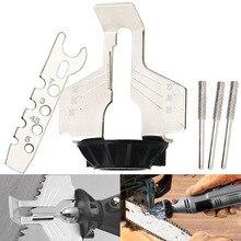 Herramientas de molienda de dientes de sierra de cadena, accesorio de afilado duradero, amoladora eléctrica afilada, herramienta afiladora de cadena para jardín al aire libre