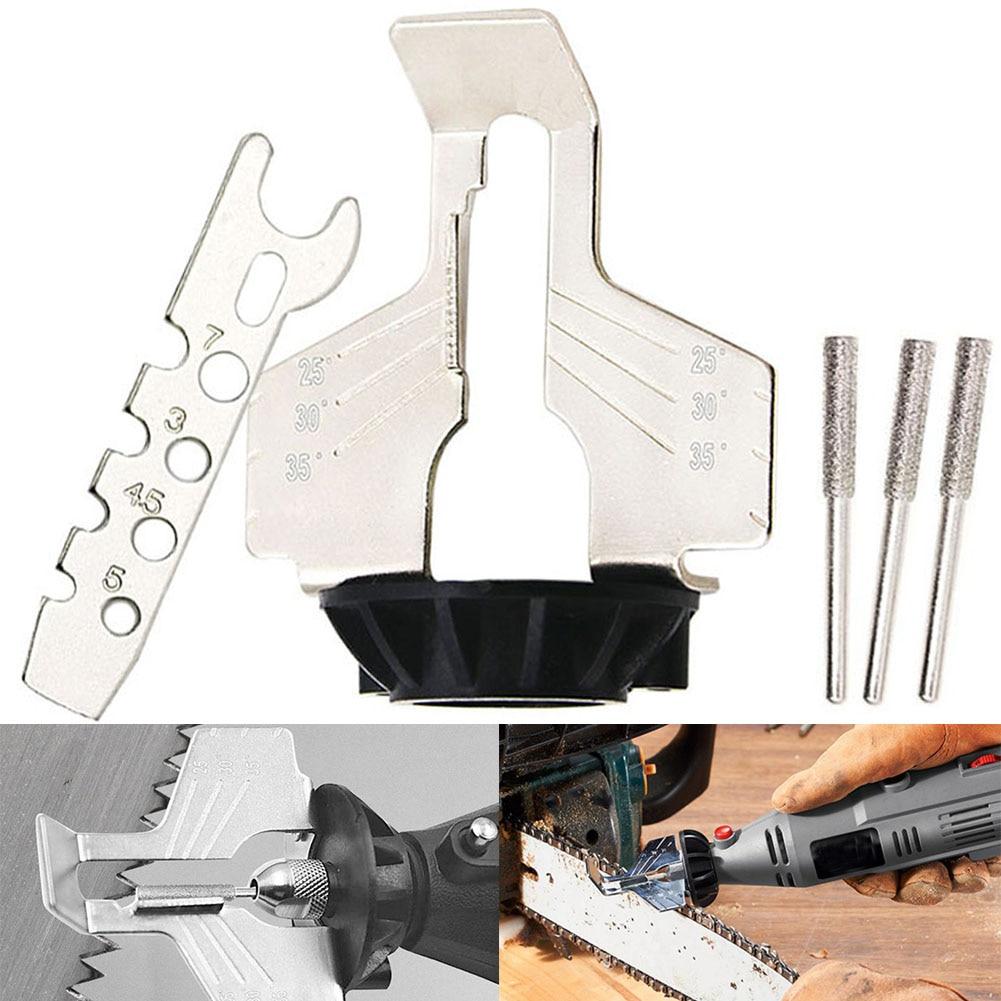Ev Dekorasyonu'ten Zincirler'de Zincir testere diş taşlama araçları dayanıklı bileme eki keskin elektrikli değirmeni açık bahçe zinciri kalemtıraş aracı title=