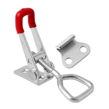1pc GH-4001 Toggle Clamp Clamping Metal 100 Kg 220 Lbs Quick Release Holding Latch Hand Tool metal horizontal quick release hand tool toggle clamp for fixing workpiece 60 lbs antislip covered hand tool toggle clamp