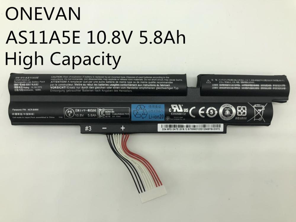 ONEVAN haute capacitiaty nouveau batterie d'ordinateur portable pour Acer Aspire inteminex 4830TG 5830T 4830T 5830TG 3830T 3INR18/65-2 AS11A3E AS11A5E