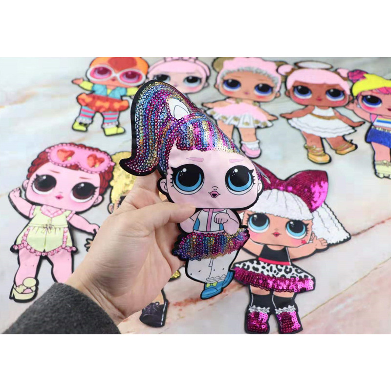 Cartoon Patches Women Fashion LoL Doll Girls Lovely  Fashion Boy Doll Embroidery Patch DIY Garment Decoration Sequins Cloth