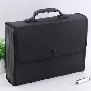 Image 5 - 26 Layers Pockets Expanding File Folder Organizer Briefcase Waterproof Business Filing Box With Handle Office Supply