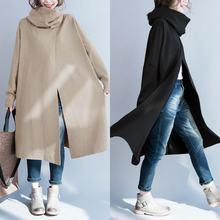 ZANZEA Plus Size Women Turtleneck Coats Jackets Femme 2019 New Side Pockets Casa