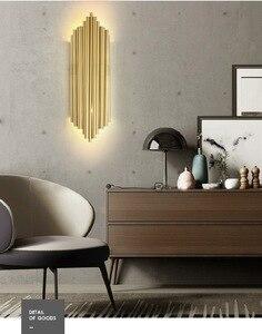 Image 5 - Moderne Kreative Individualität Metall Wand Licht Retro Gold Wohnzimmer Schlafzimmer Küche Gang Dekoration Wand Leuchte Beleuchtung