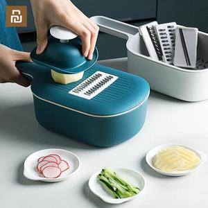 Image 2 - Youpin Jordan&Judy Multi functional Vegetable Cutter Manual Slicer Potato Grater Carrots With Food Storge Box Kitchen Accessorie