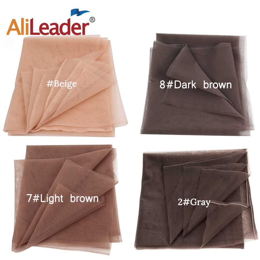 Alileader şeffaf dantel yapımı veya havalandırma dantel peruk kap dantel ön veya tam dantel peruk taban 1/4 Yard