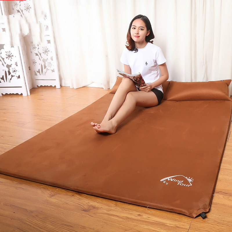 Coupe Single Moisture proof Pad Outdoors Chamois Down Inflation Pad Thickening Land Pad Tent Mattress Portable Noon Break Pad - 2