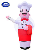 10ft 16'' Inflatable Tube Sky Puppet Tube Man Air Puppet Wind Flying Air Sky Tube Promotional Balloons Advertising Waver cook