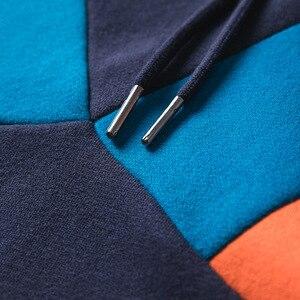 Image 5 - 2019 Streetwear Männer Hoodie Sweatshirt Harajuku Winter Fleece Hoodie Pullover Hip Hop Farbe Block Baumwolle Herbst Beiläufige Hoodies