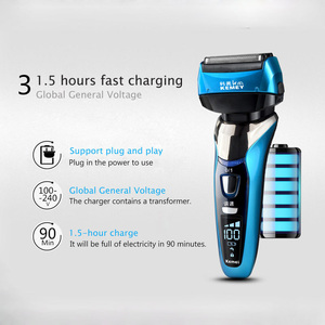 Image 4 - Reciprocating Electric Shaver for Men 3D Floating Four Blade Rechargeable Bread Shaving Machine Waterproof Electric Razor D43
