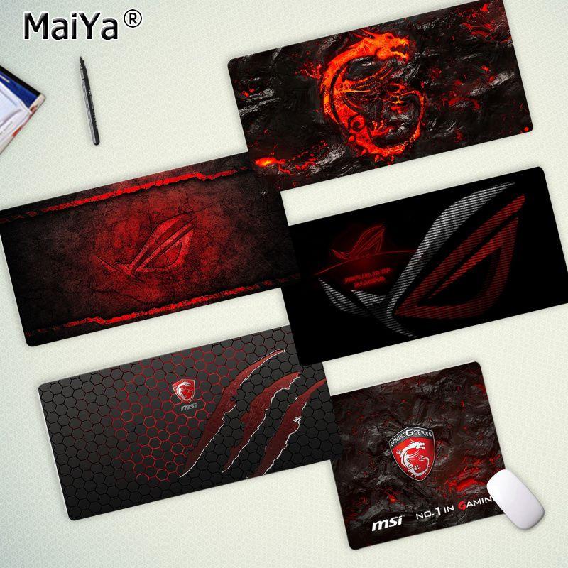 Maiya Top Quality Game MSI Dragon Logo Gaming Player Desk Laptop Rubber Mouse Mat Free Shipping Large Mouse Pad Keyboards Mat