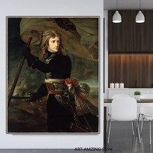 Peinture à l'huile sur toile moderne avec image d'antoine-Jean Gros, décoration murale pour la maison