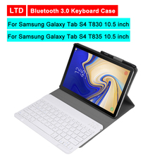 Buy Bluetooth 3.0 Tablet Keyboard Case For Samsung Galaxy Tab S4 T830 T835 10.5 inch Mediapad Flip Leather Stand Protective Cover directly from merchant!
