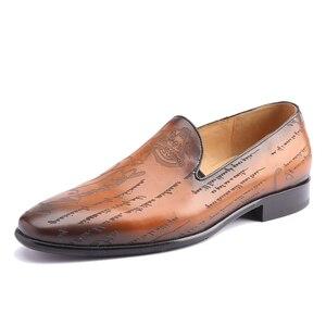 Image 2 - Chaussures en cuir Blake personnalisées pour hommes, tenue de bureau et de mariage, marque de luxe, mocassins décontracté, 2020