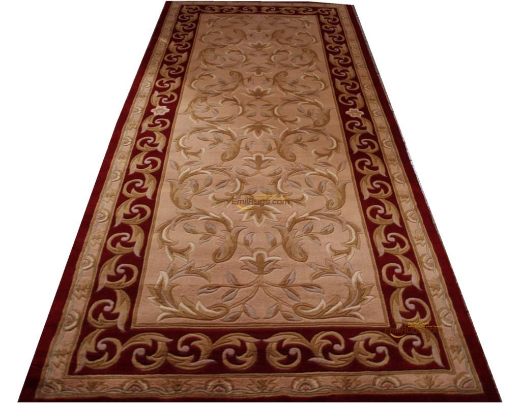 Tapis tricoté Antique français tapis fait main coureur tapis chambre sol décoration rond luxe tapis Style ethnique